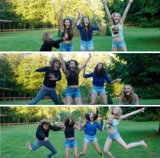 jumping cousisn